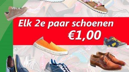 schoenen 2e paar 1 euro