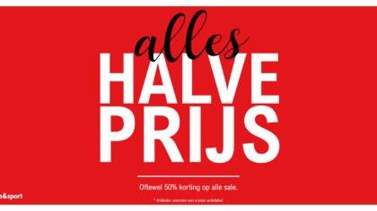 Alles halve prijs bij Van Rijbroek Mode & Sport in Boekel