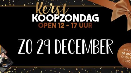 koopzondag 29 december Van Rijbroek