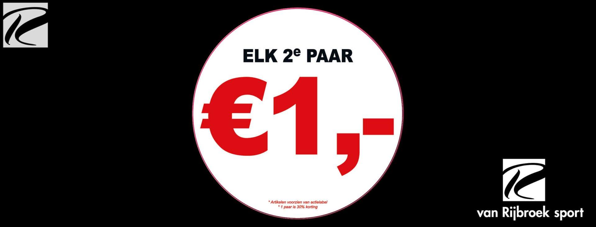 Elk 2e paar €1,-  sport