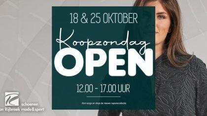 Van Rijbroek Extra zondag open