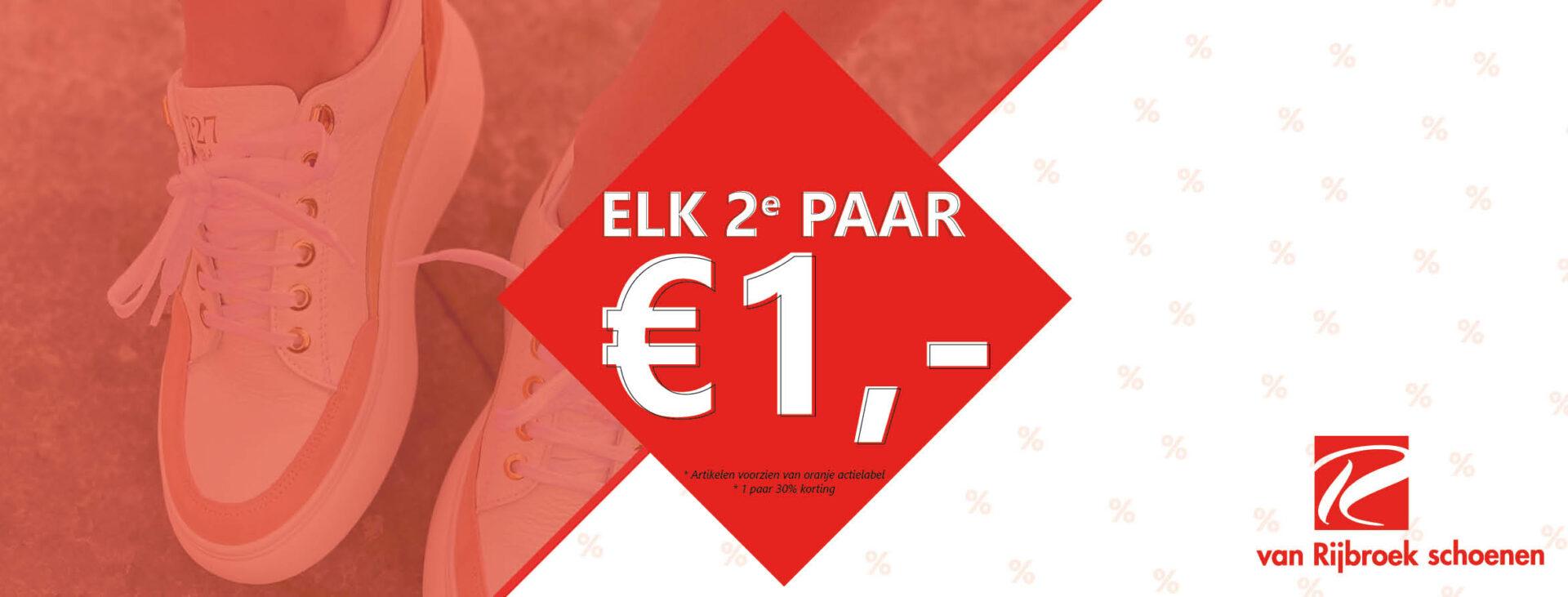 elk 2e paar 1 euro